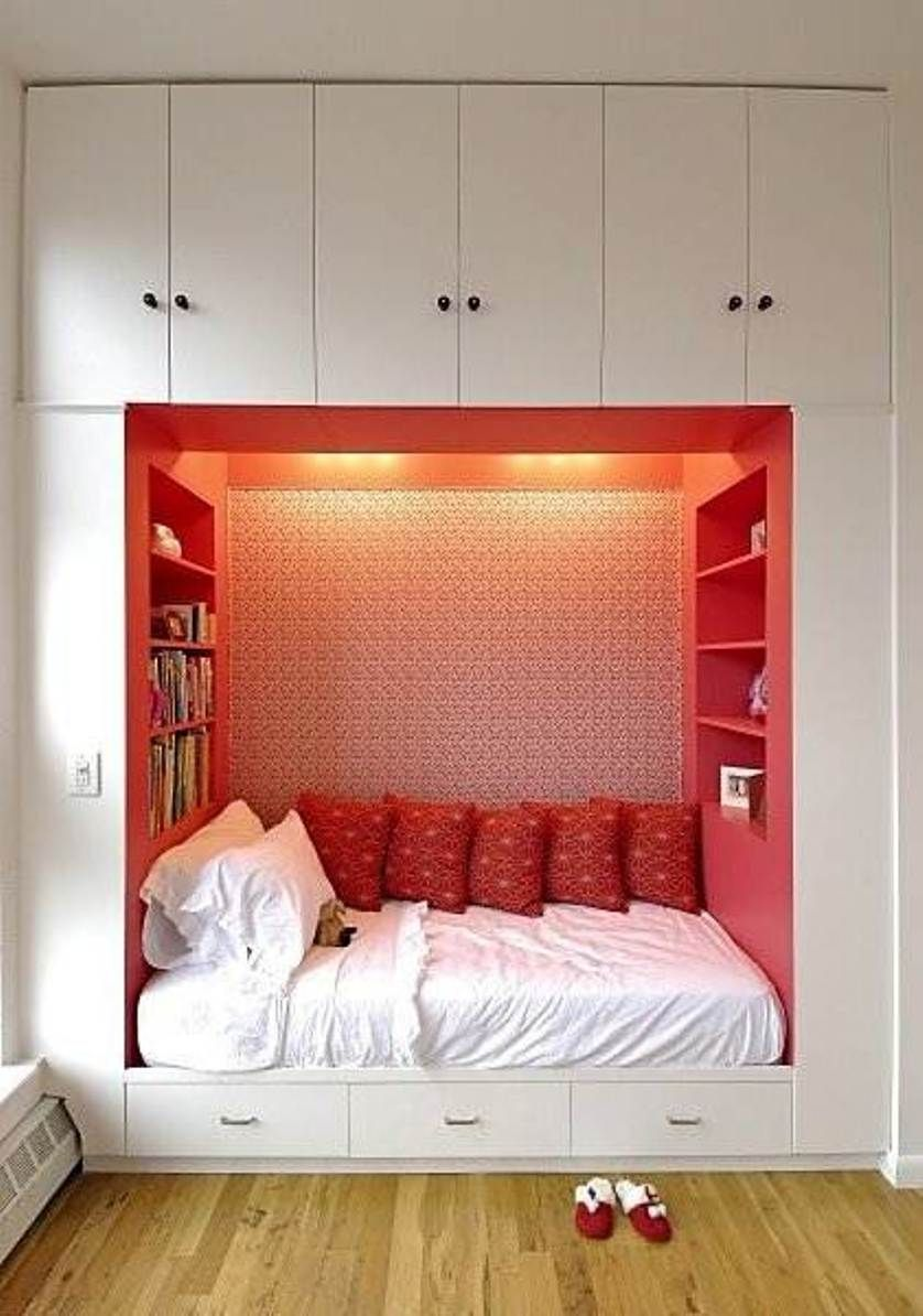 small bedroom with alcove  Small bedroom interior, Small room