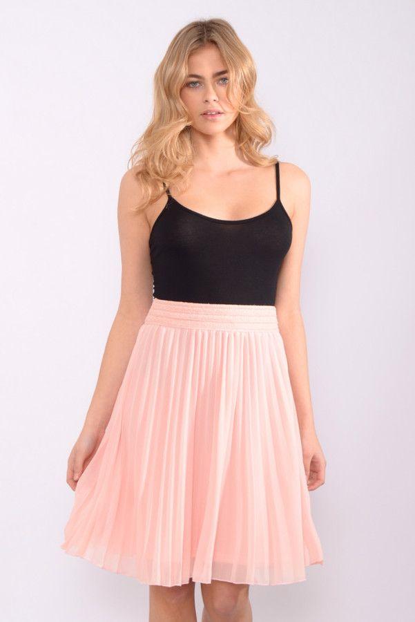 eaadbb5e9fec76 Rare | style | Pink pleated midi skirt, Pleated midi skirt, Pink ...