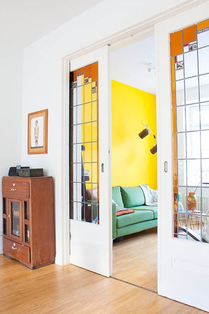 eclectic living room by Louise de Miranda, these doors!