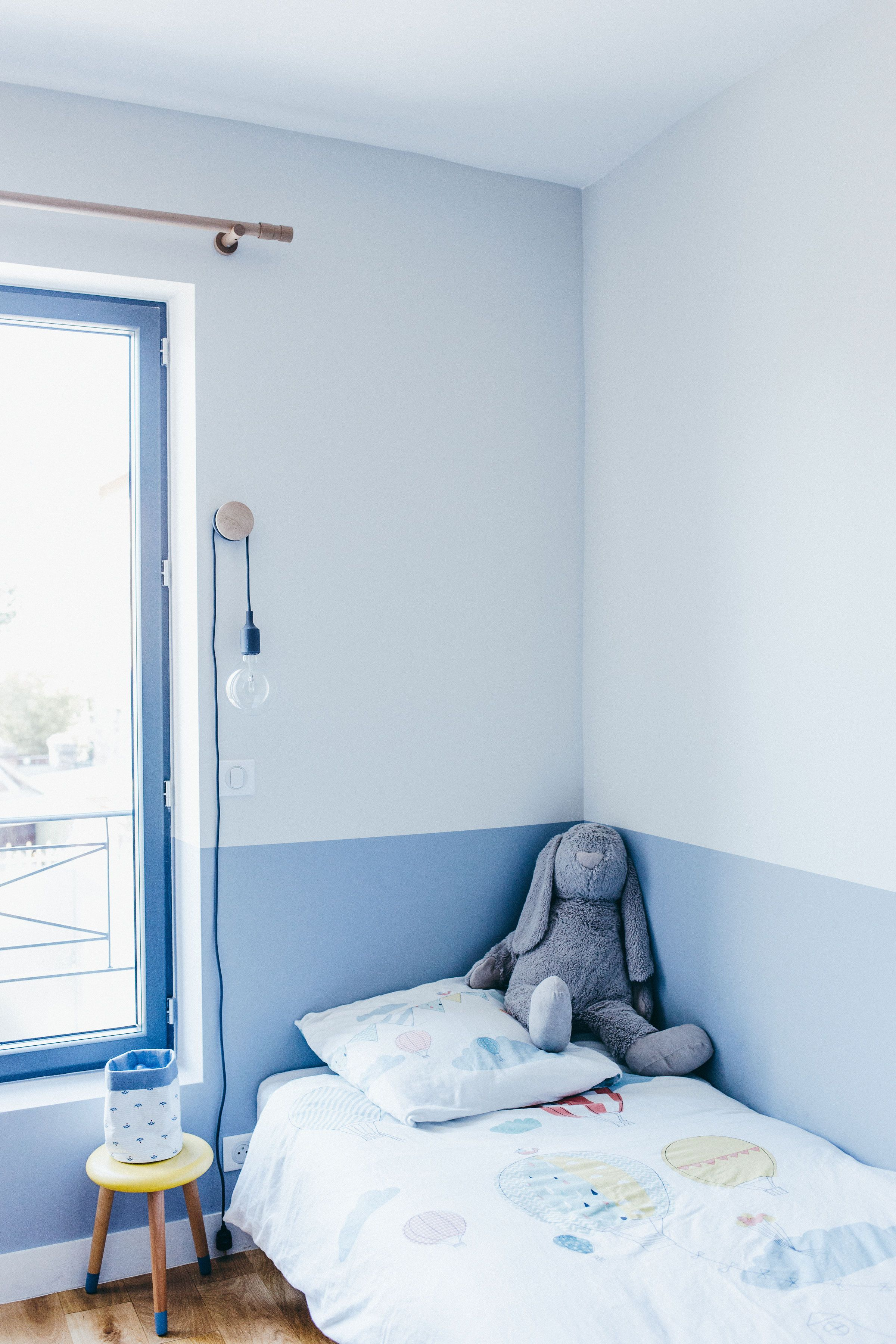 A Forgotten House In The Parisian Suburbs Is Reborn Nonagon Style Boys Room Blue Blue Rooms Blue Kids Room