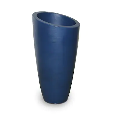 Mayne 16 In W X 32 In H Neptune Blue Resin Round Planter At Lowes Com In 2020 Tall Planters Resin Planters Blue Planter