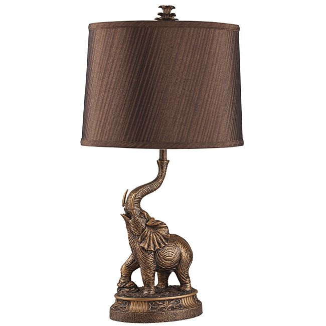 Featuring A Striking, Sophisticated Elephant Base, This 27 Inch Bronze Lamp  Is The