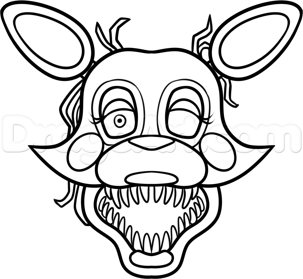 how to draw mangle from five nights at freddys 2 step 10 | fnaf ...