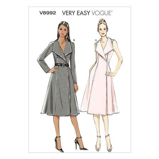 Vogue Patterns Misses Dress V8992 Wrap Dress Sewing Patterns
