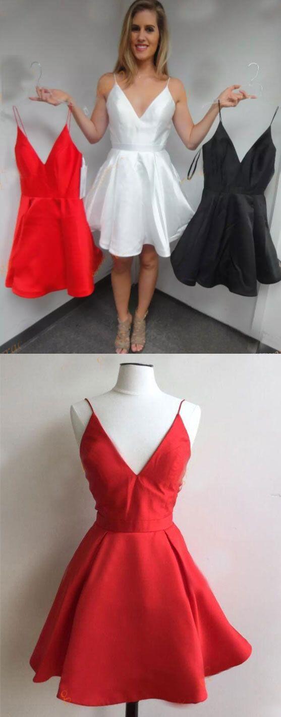 Simple Spaghetti Straps Short Mini Homecoming Dresses Under 100 ...