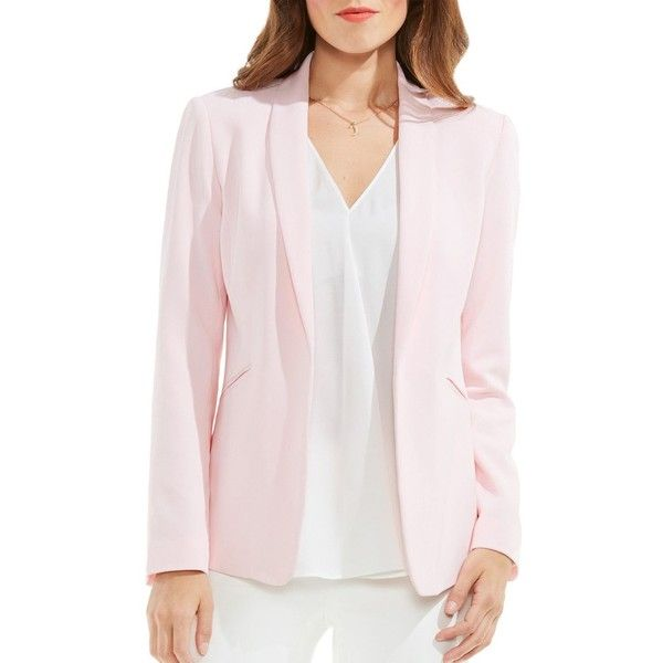 743552da4fcb Vince Camuto Women's Shawl Collar Kiss Front Blazer ($45) ❤ liked on  Polyvore featuring outerwear, jackets, blazers, electric pink, long sleeve  jacket, ...