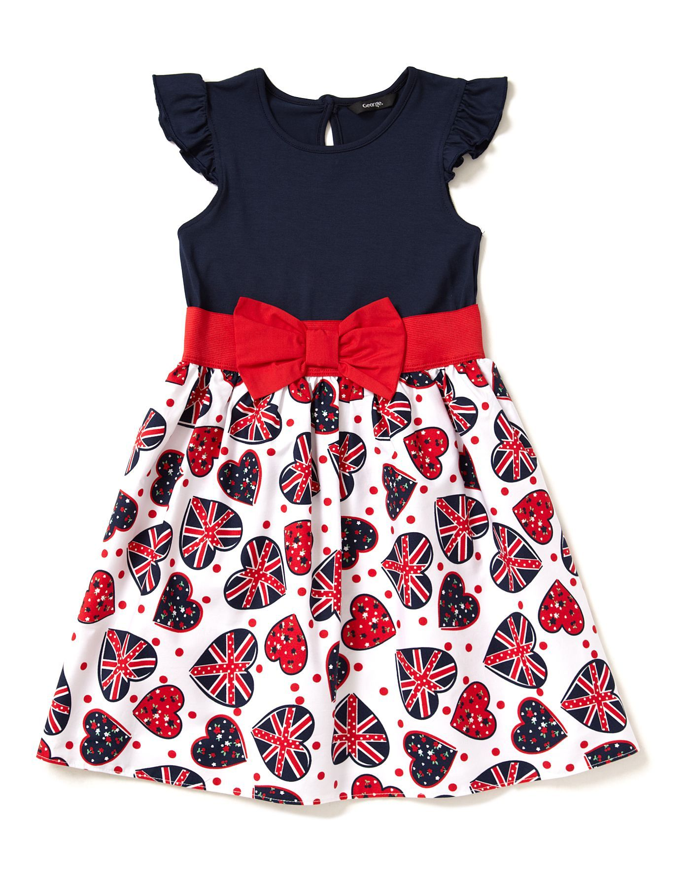 550f793b68ac1 Union Jack 2 in 1 Dress | Girls | George at ASDA | For the children ...