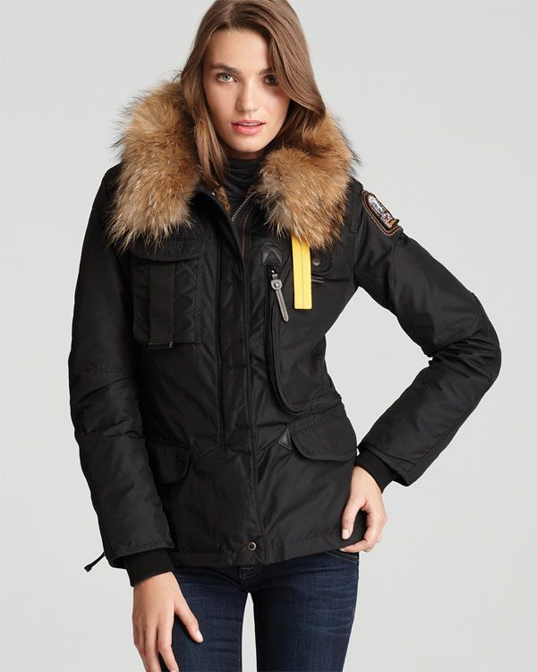 PARAJUMPERS New Denali Women Black Masterpiece Down Jacket
