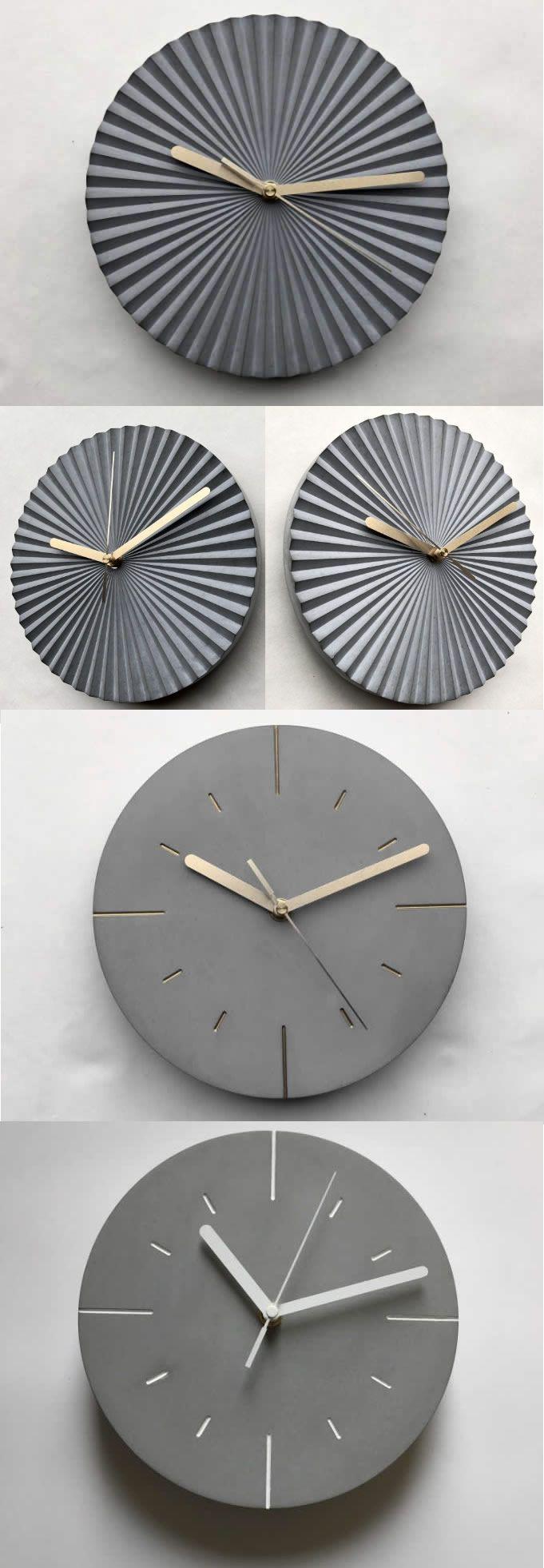 Natural Texture Of Modern Concrete Circle Wall Clock Modern Structure Cement Wall Clock Concrete Clock I Ll Try Thi Clock Wall Decor Clock Wall Clock Modern