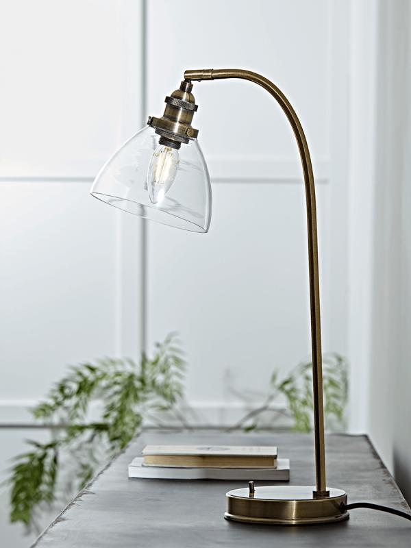 New Domed Glass Desk Lamp Brass Desk Lamps Lamps Lights Lighting Desk Lamp Lamp Glass Desk