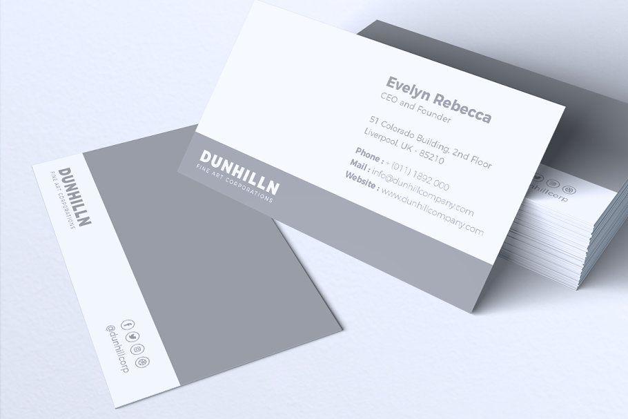 Corporate Business Card Freebie On Behance Corporate Business Card Corporate Business Card Design Business Card Design