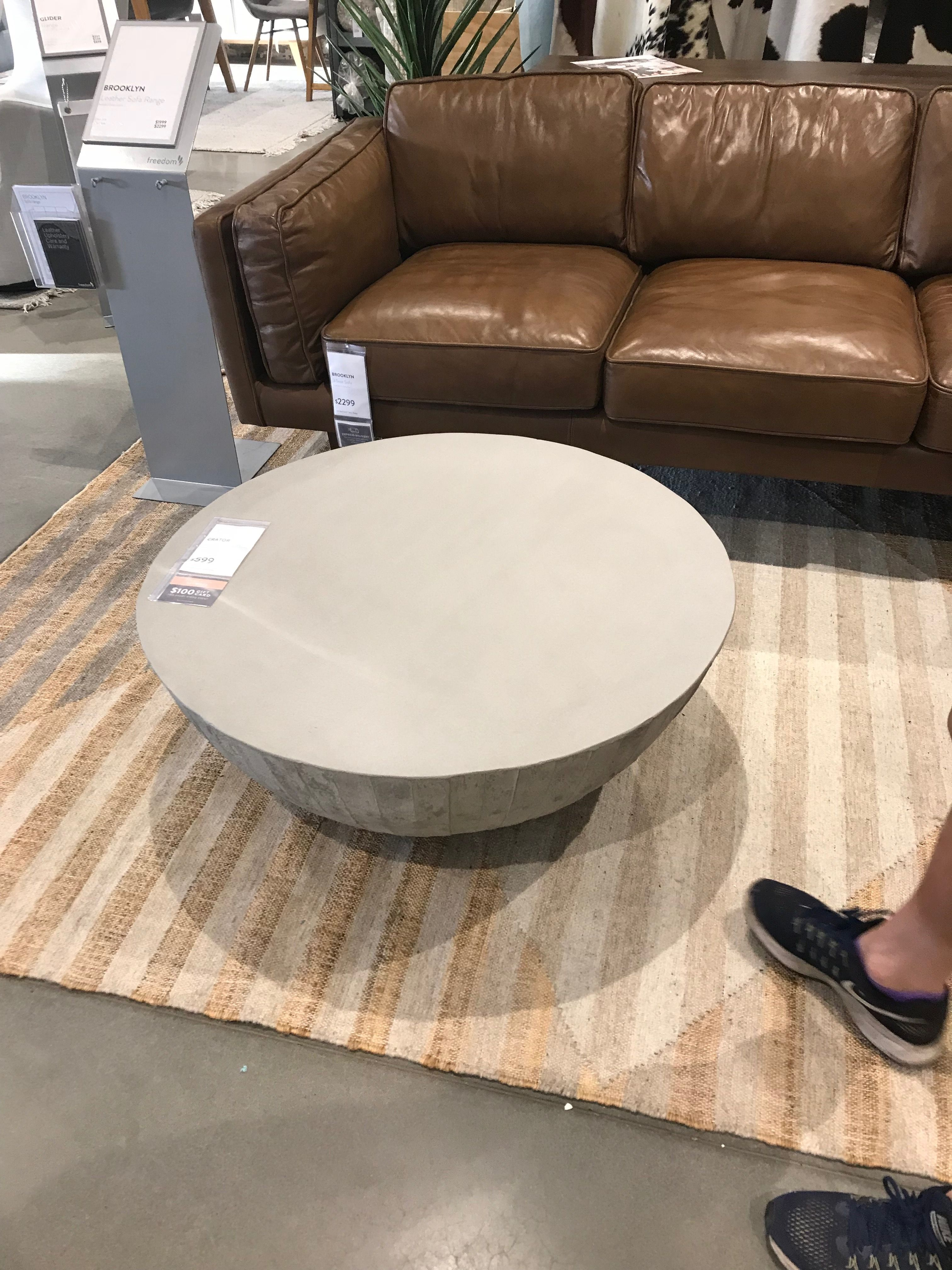 Crator concrete look coffee table freedomfurniture