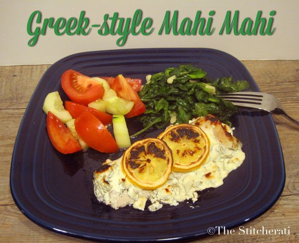 healthy eating greekstyle mahi mahi recipe  the