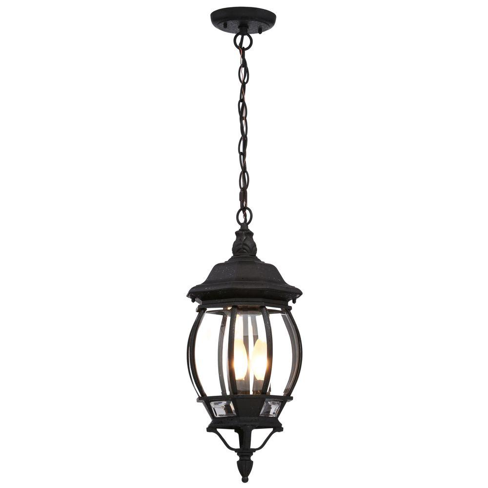 Glomar Concord 3 Light Outdoor Hanging Old Bronze Lantern Hd 895 The Home Depot In 2020 Outdoor Pendant Lighting Outdoor Hanging Lanterns Hanging Porch Lights