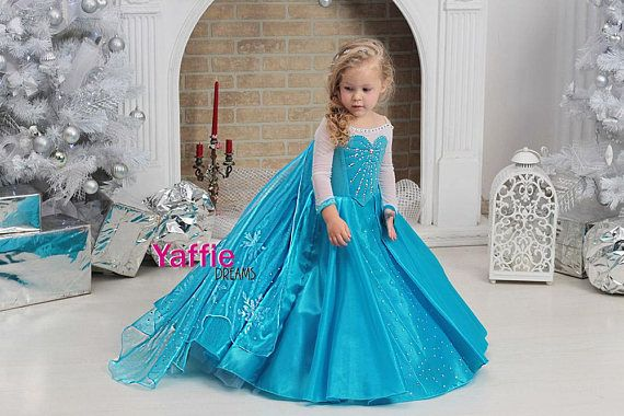 437e475b52 Elsa dress Disney princess costume Halloween outfit Frozen girl queen gown  let it go cosplay costume birthday party gift ideas beautiful toddler  Disneyland ...