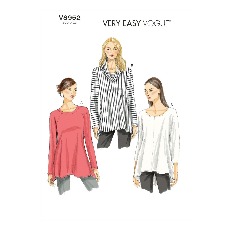 V8952 Vogue Schnittmuster zum Nähen, Elegant, Extravagant, Modisch ...