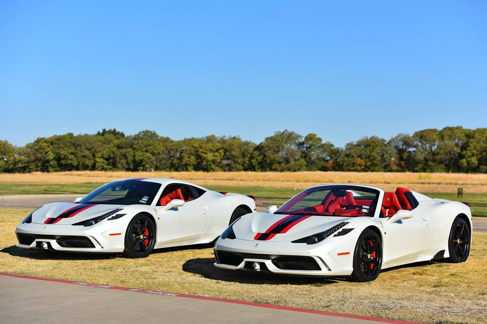 Ferrari 458 Speciale And Speciale Aperta Both Painted In Bianco