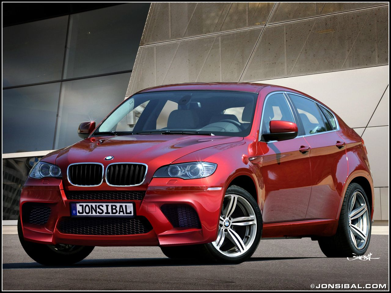 Bmw X6m In Metallic Ruby Red With Black Leather Interior
