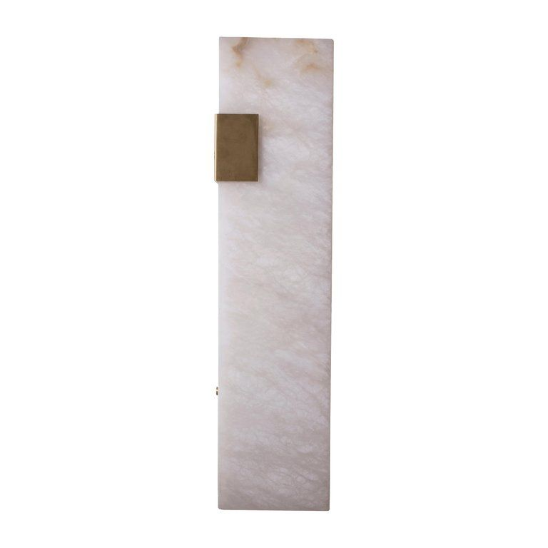 Contemporary 003 1c Sconce In Brass And Alabaster By Orphan Work