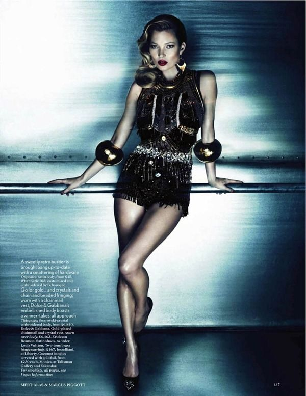 Kate Moss in W Korea July 2012 By Mert & Marcus Fashion editorial