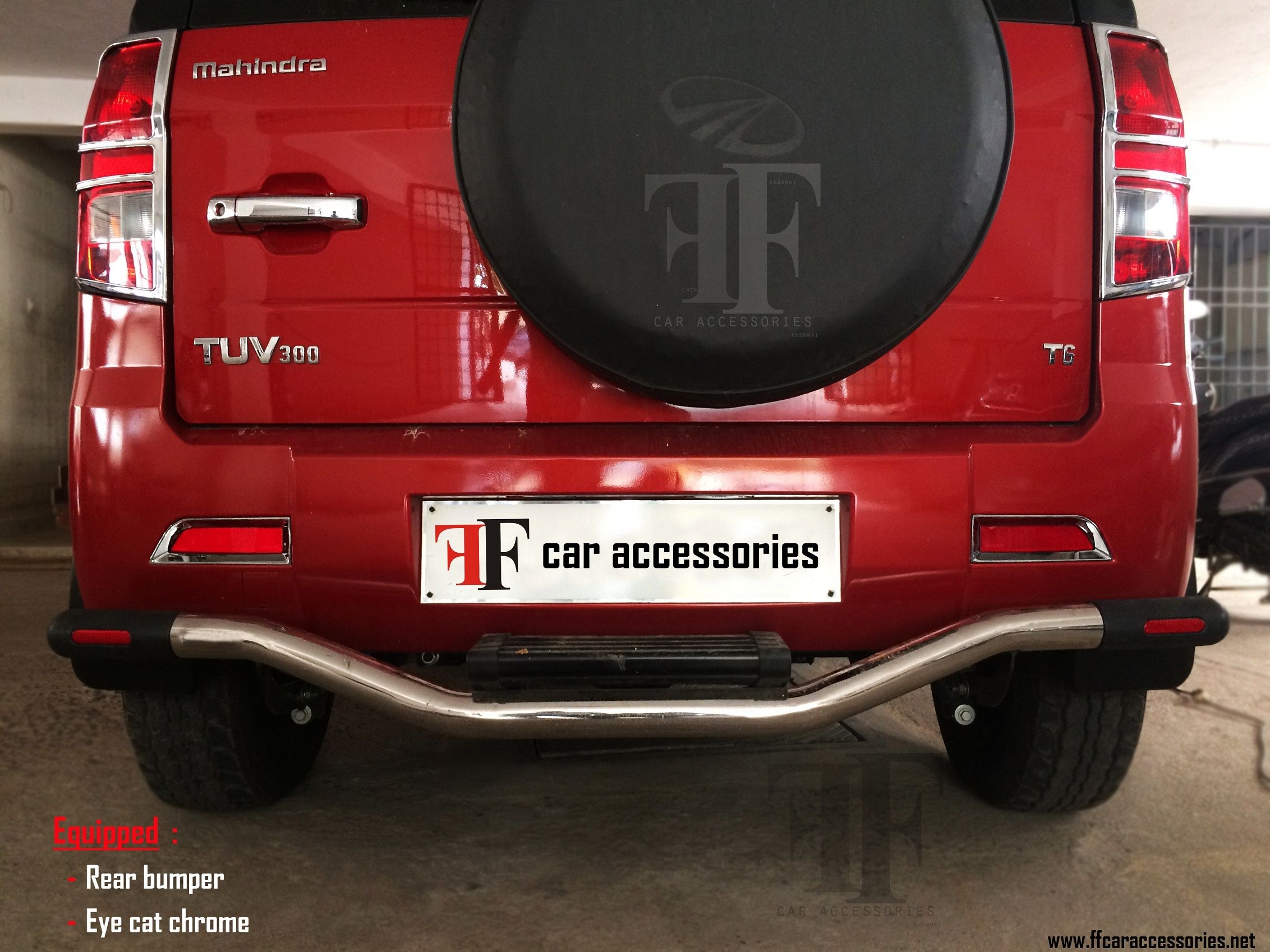 Rear guard installed on this TUV300 by our team Car