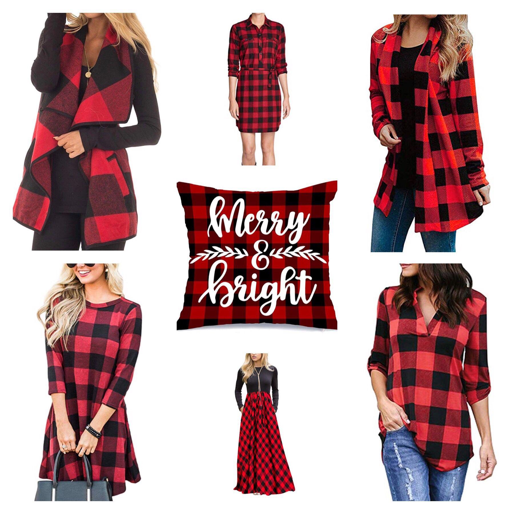 Curated Shopping list with ideas for home, clothing, accessories, gifts, and more in red plaid patterns! #plaid #plaidshirt #plaidpants #plaidblazer #plaiddress #plaidchristmas #plaidwrappingpaper #plaidgifts #redplaid #buffaloplaid #buffalocheck #tartan #tartanplaid #womensfashion #mensfashion #homedecor #gifts