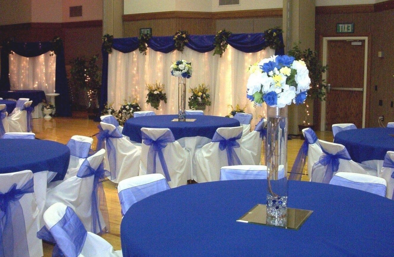 Royal Blue Gold And White Wedding Decor Ideas About Blue