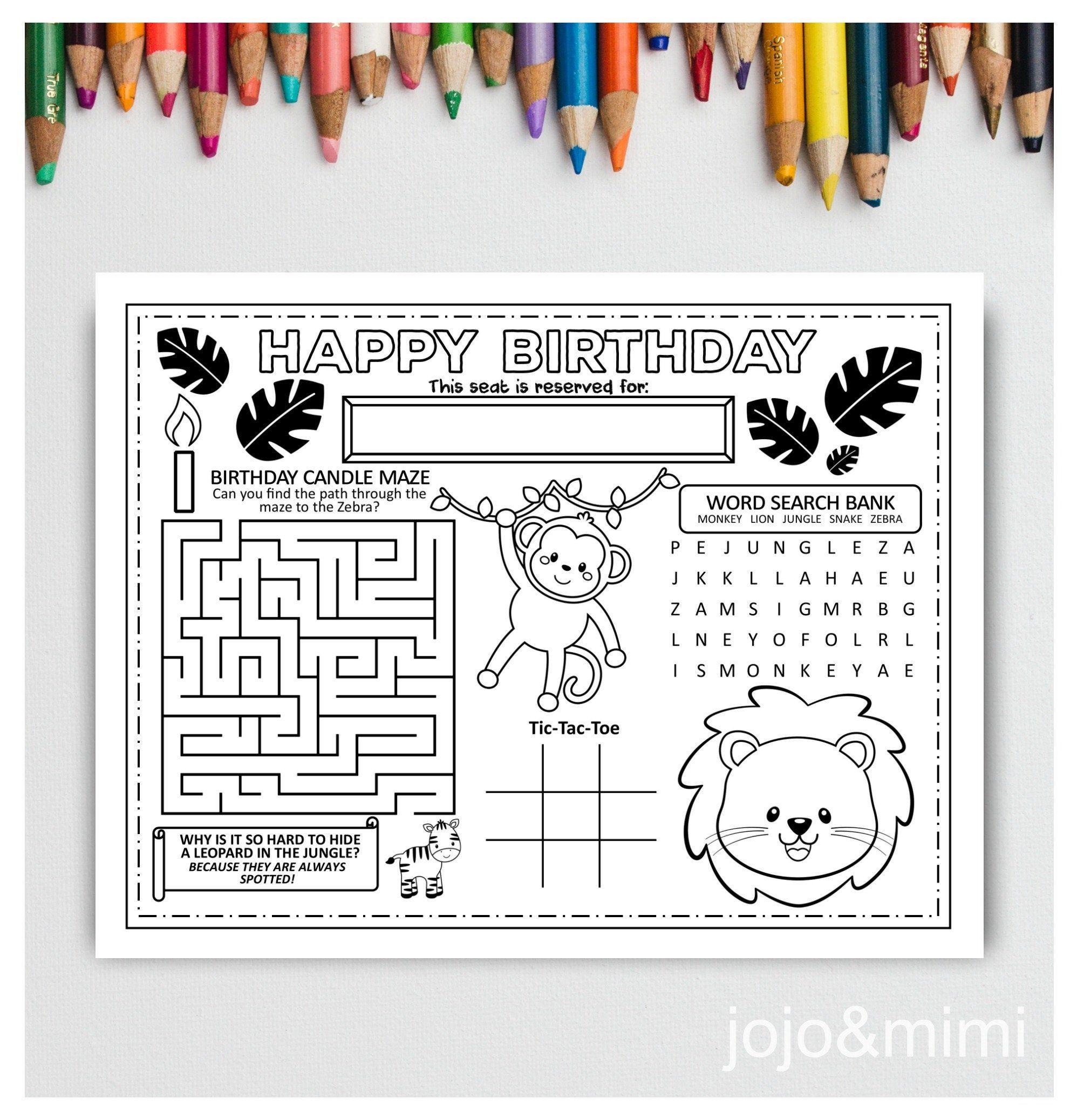 Happy Birthday, Mila: Kids Joke Book & Personalized Coloring Book ...   2076x1996