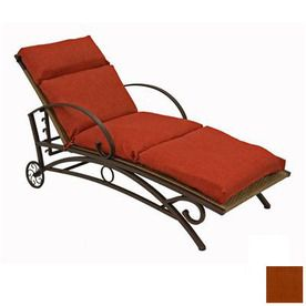 Blazing Needles Cinnamon Patio Chaise Lounge Cushion