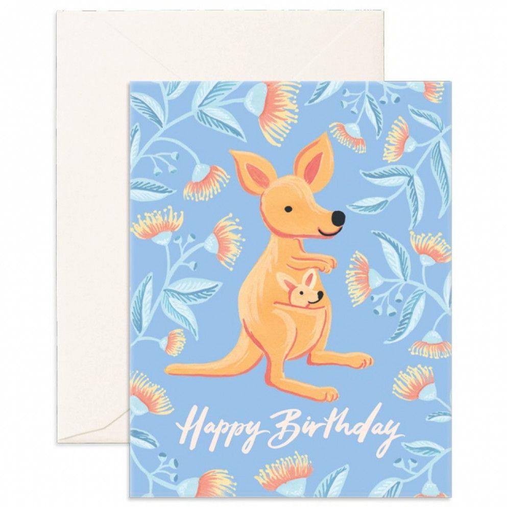 15 Custom Kangaroo Happy Birthday Card Happy Birthday Cards Cards Birthday Cards