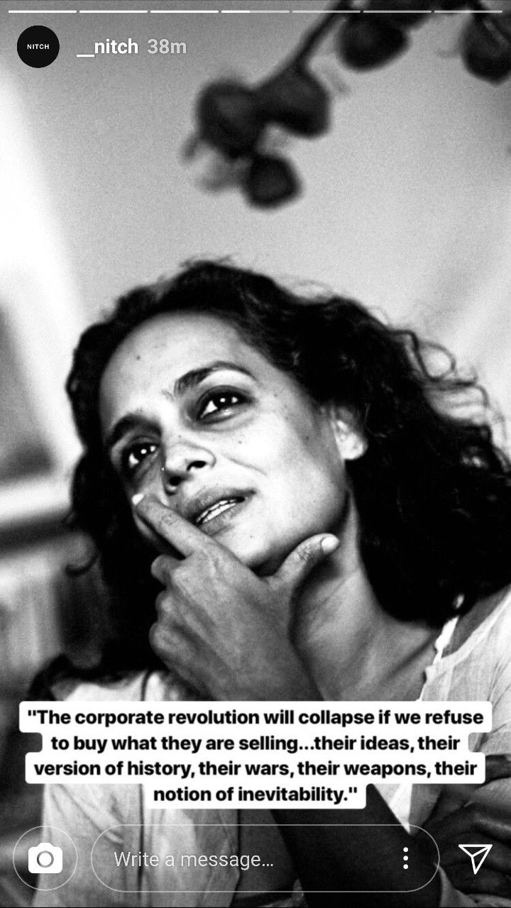 Arundhati Roy Inspirational words, Beautiful quotes