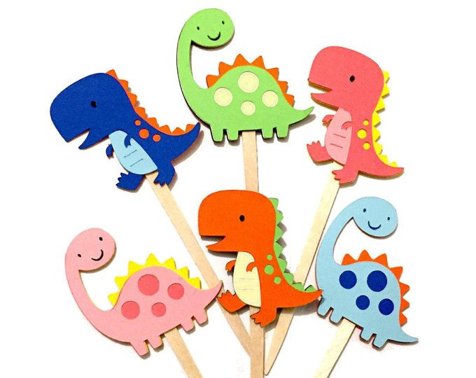 Dinosaur Cupcake Wrappers Dinosaur Birthday Decorations Kids