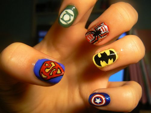 nails art - Nails Art Uñas Pinterest Superhero Nails, Nail Nail And