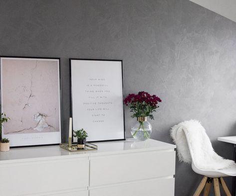 Betonwand Selber Machen Mit Der Alpina Beton Optik Phileas Pinterest