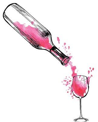 Watercolor Wine Bottle 974 Wine Tattoo Wine Painting Bottle