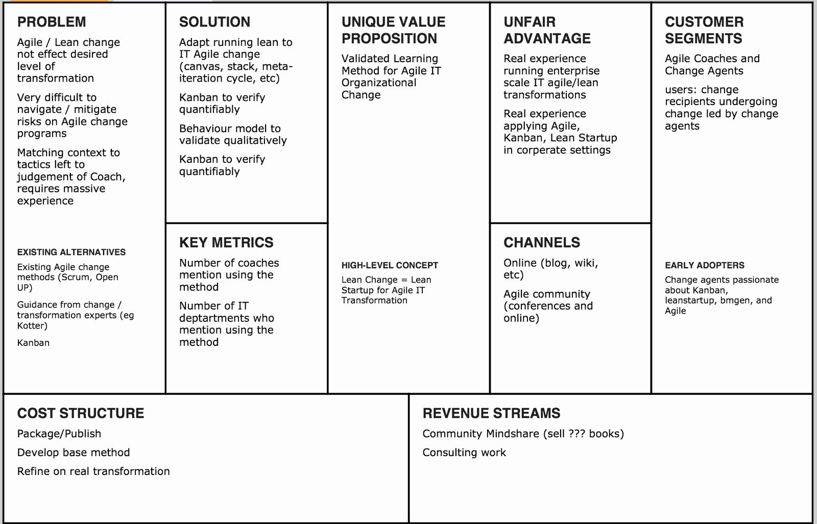 Lean Business Plan Pdf Example Template Word Startup Ness
