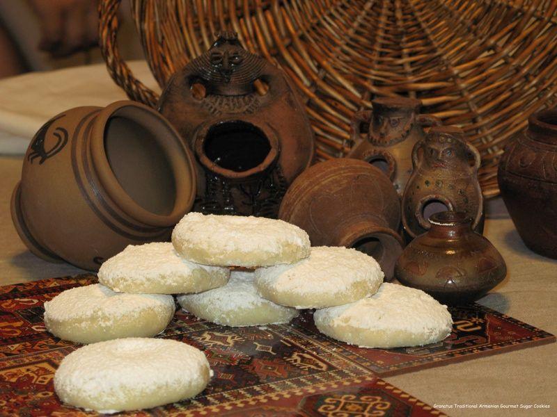 Armenian Sugar Cookies (Kurabia)   De-lish   Pinterest   Küche