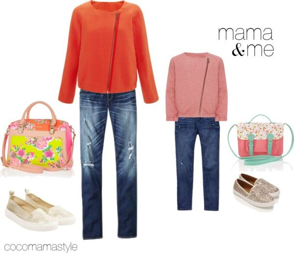 Mama and me: spring casual - cocomamastyle.com Asymmetric jacket, distressed jeans, floral satchel, gold slip on shoes, skater shoes, kids skater shoes, kids fashion, mum style, mum blogger, style blogger