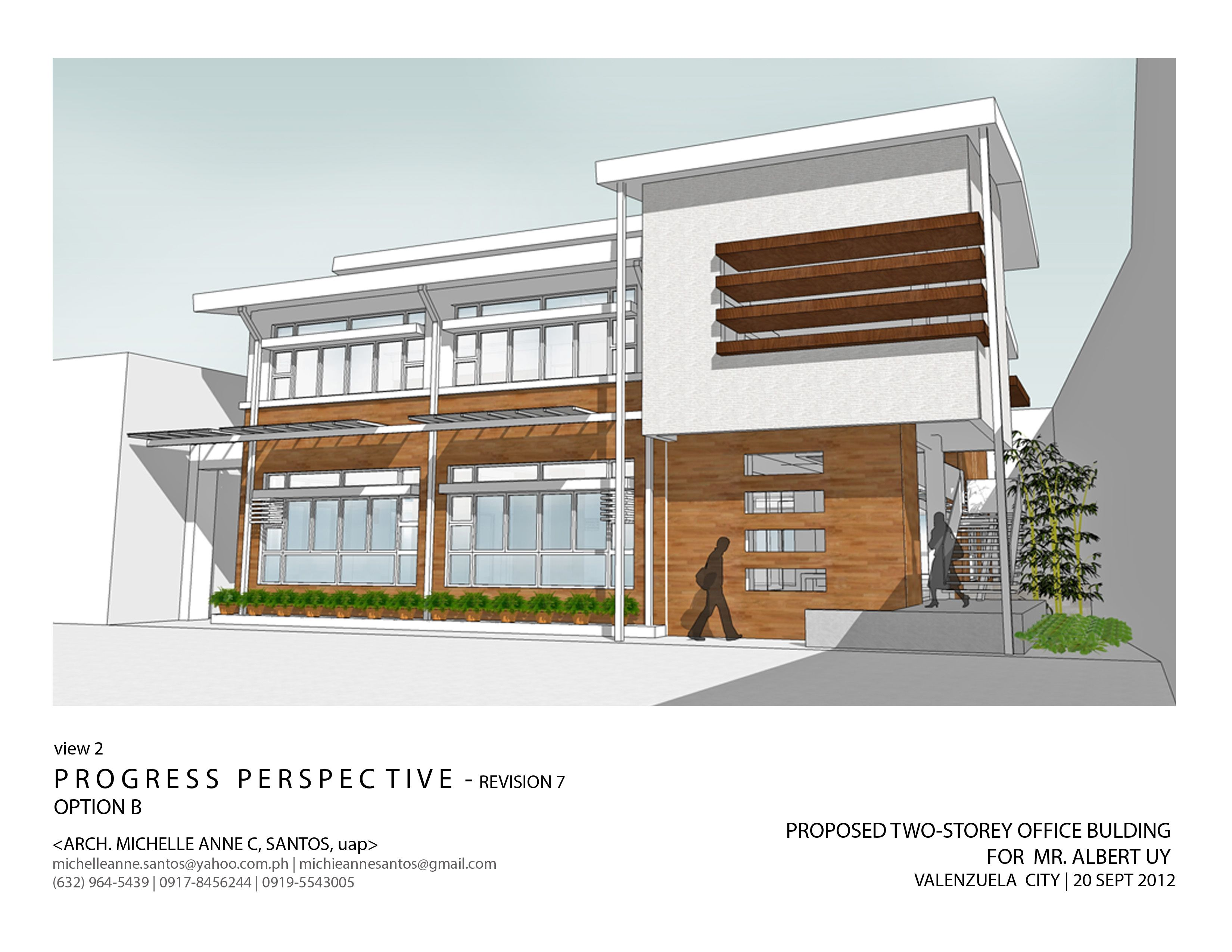 Architecture And Interior Design By Michelle Anne Santos At Another Option Of The Proposed 2 Storey Offic Building Design Office Building Office Building Plans