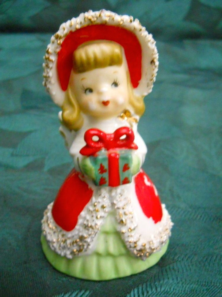 Vintage Ceramic Lefton Christmas Angel Bell Christmas Angels