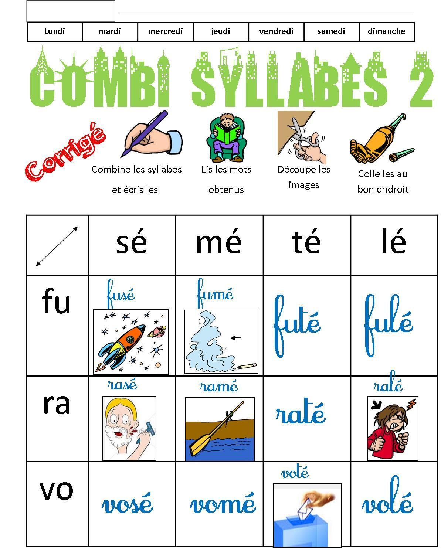 Bevorzugt Combi syllabes | lecture | Pinterest | Syllabes, Lecture et École QO21