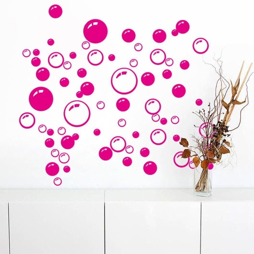 Window decor stickers  bigban  pc bubbles circle removable wall wallpaper bathroom window