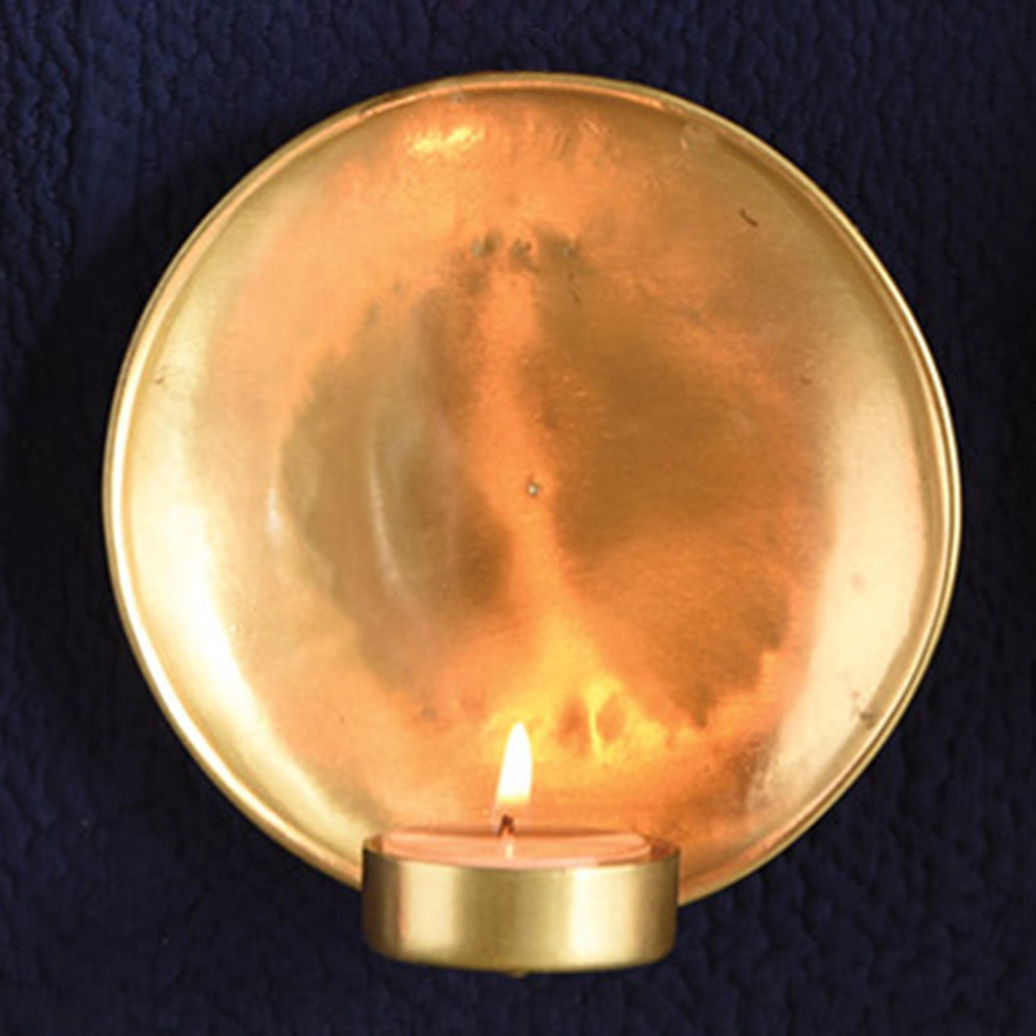 Small Brass Alma Iron Tealight Wall Sconce by HomArt & Small Brass Alma Iron Tealight Wall Sconce by HomArt | Wall ... azcodes.com