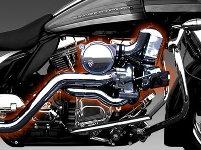 Trask Performance   turbo kit for Harley Baggers bet this would put