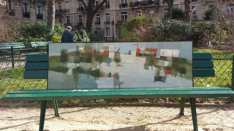 Michel THOMPSON 1960 Paysage banlieue parisienne 150x50 ville ...