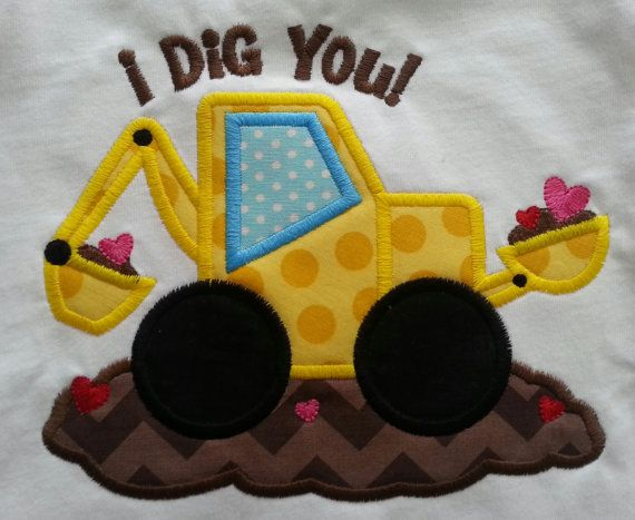 boy Valentine Shirt I dig you by lacythingsandmore on Etsy, $22.00