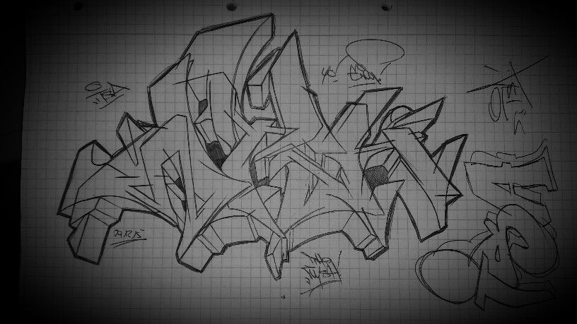 Graffiti Style Black And White Isa Wysh147 Gimp197 The Wysh 147