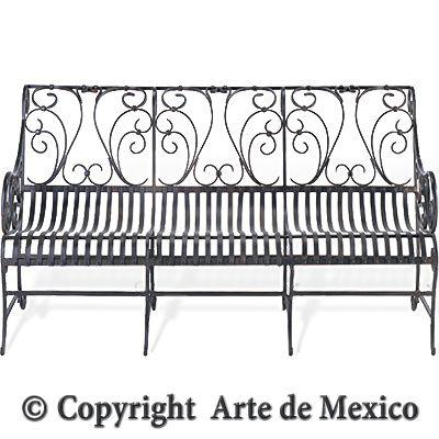 IS037 1 Wrought Iron Bench Page Arte De Mexico