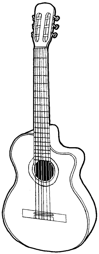 How to Draw a Guitar with Easy Step by Step Drawing Tutorial ...