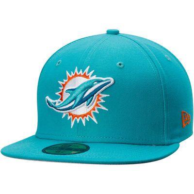 the best attitude 65b0e 9668e Miami Dolphins New Era State Clip 59FIFTY Fitted Hat - Aqua